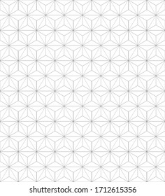 Elegant star hexagon seamless pattern