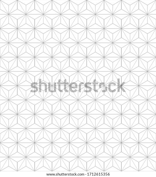 Elegant star hexagon seamless pattern