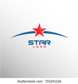 Elegant Star Logo Concept. Vector Illustration eps.10