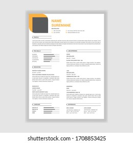 Elegant style resume design vector template