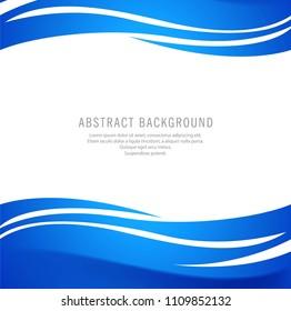 Elegant stylish blue wave background