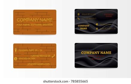 Elegant Template Business Card Vector illustration