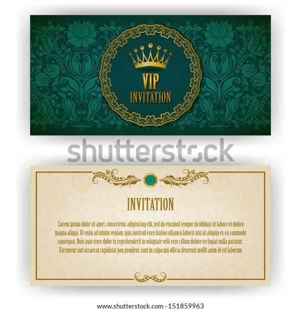 Elegant Template Luxury Invitation Card Lace Stock Vector (Royalty ...