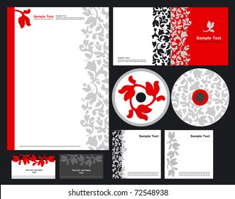 Elegant template vector background for hotels and restaurant (blank, card, cd, note-paper, cover)