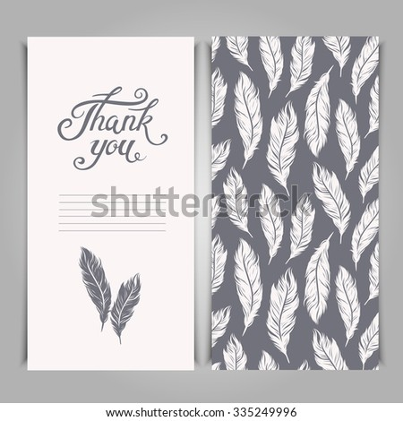 elegant thank you card template silver stock vector royalty free