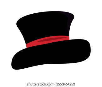elegant tophat accessory isolated icon vector illustration design