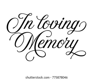 Elegant typography wedding word art text design vector for  in loving memory
