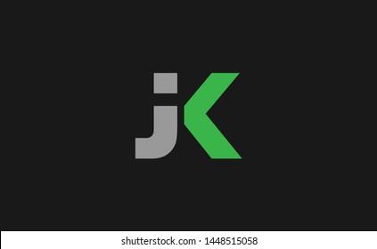 Elegant and unique JK letter design