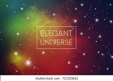 Elegant universe science fiction background with copy space.