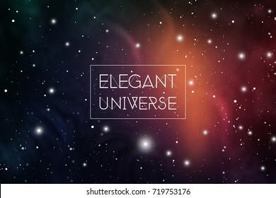 Elegant universe scientific outer space wallpaper.
