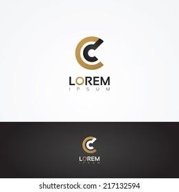 Elegant vector graphic alphabet / letter C
