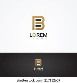 Elegant vector graphic alphabet / letter B