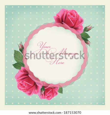 Elegant Vector Greeting Card With Of Flowers Bright Illustration Can Be Used As Creating