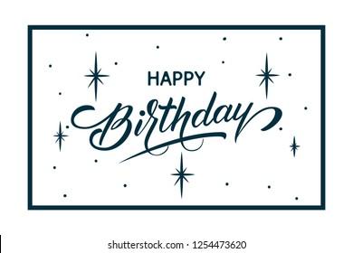 Elegant Vector Happy Birthday Card Vector Stock Vector Royalty Free