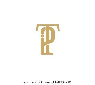 Elegant Vector Linked Minimalist Letter TP Logo Design