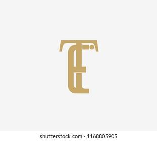Elegant Vector Linked Minimalist Letter TE Logo Design