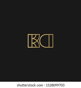 Elegant vector logotype. Premium letter KD logo design. Luxury linear creative monogram - Vetorial