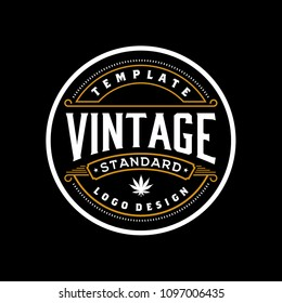 Elegant Vintage Retro Badge Label Emblem Logo design inspiration