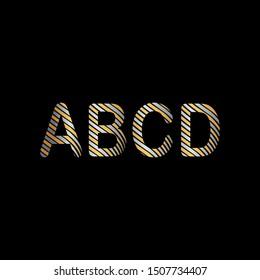 Elegant Vintage Stripe letter ABCD Tag line. Creative design letter ABCD tag line for business symbol.