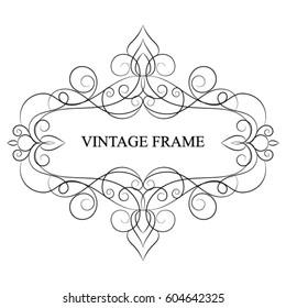 Elegant vintage template frame