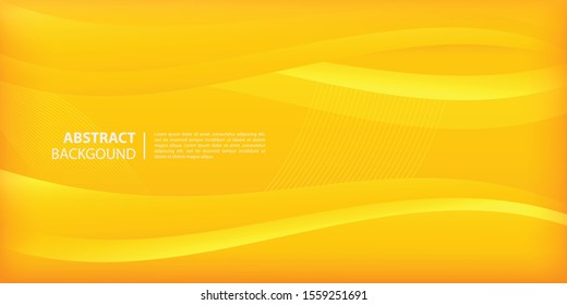 elegant waves and lines wallpaper in yellow gradient background