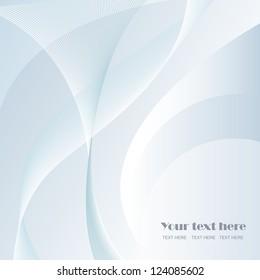 Elegant Wavy Background - Vector illustration. Beautiful background for your design