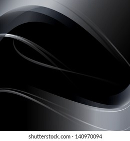 Elegant Wavy Background -Vector Illustration, Graphic Design Useful For Your Design