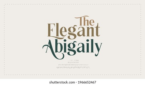 Elegant wedding alphabet letters font and number. Typography Luxury classic lettering serif fonts decorative vintage retro concept. vector illustration - Shutterstock ID 1966652467