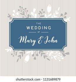 Elegant wedding invitation background.