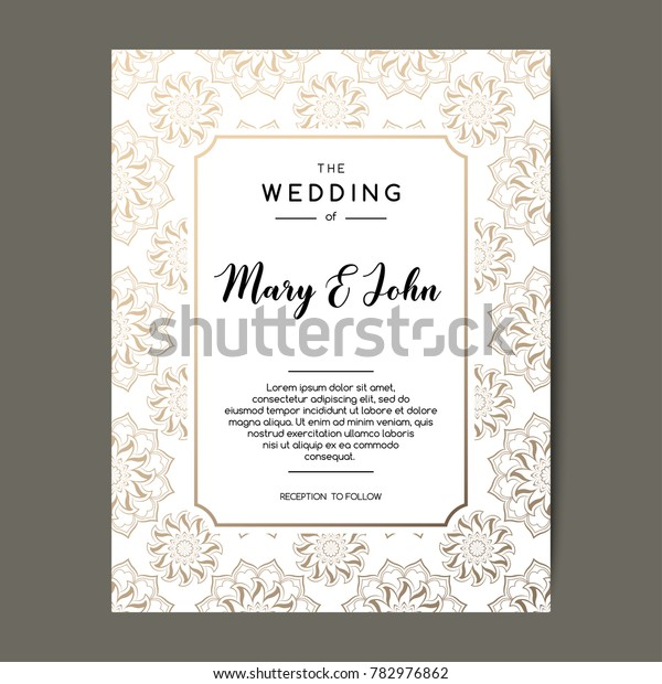 Elegant Wedding Invitation Background Card Design Royalty
