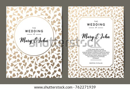 elegant wedding invitation backgrounds card design stock vector