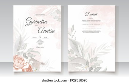 Elegant wedding invitation card flower