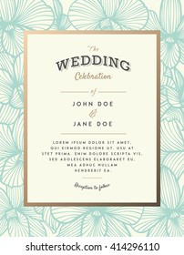 Elegant wedding invitation with orchid flowers. Perfect for wedding or announcements, mothers day, valentines day, birthday cards. Floral pattern