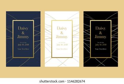Elegant wedding invitation templates.