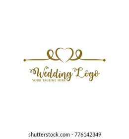 Elegant Wedding Logo Design Vector
