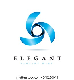 Elegant Windmill Icon Logotype Elements