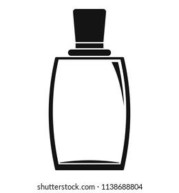Elegant woman perfume icon. Simple illustration of elegant woman perfume vector icon for web design isolated on white background