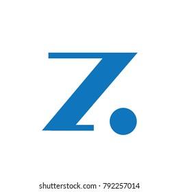 Elegant Z Letter Sans Serif Classic Modern Form Logo