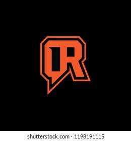 Elegent latter q&r for logo application, internet