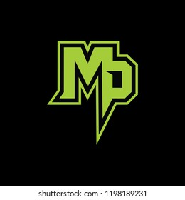 Elegent Logo with latter M&P For other company