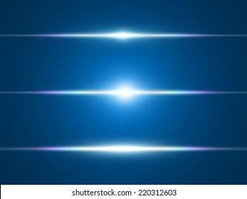 Element blue light with lens effect.