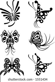 Element for design, butterfly, vector illustration