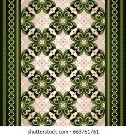 Element for design in Eastern style. Ornamental backdrop. Ornate floral decor for textile, wallpaper, web, background. Traditional floral decor.
