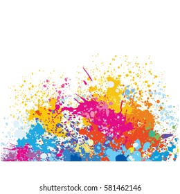 Element for design from paint stains