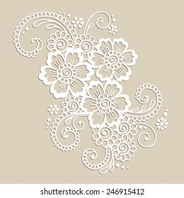 Element of Flower ornament. Vector illustration.