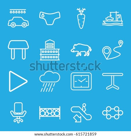 Element Icons Set Set 16 Element Stock Vector Royalty Free
