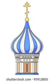element of russian church in vector