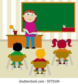 Elementary class teacher to teach a students