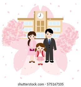 Elementary school entrance ceremony.