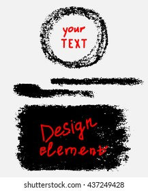 Elements and brushes for your design. Vector.